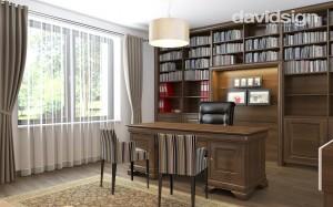 design interior birou clasic