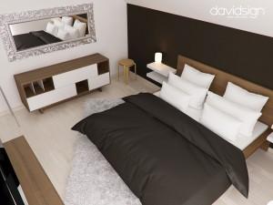 Dormitor mansarda