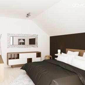 Design interior dormitor mansarda