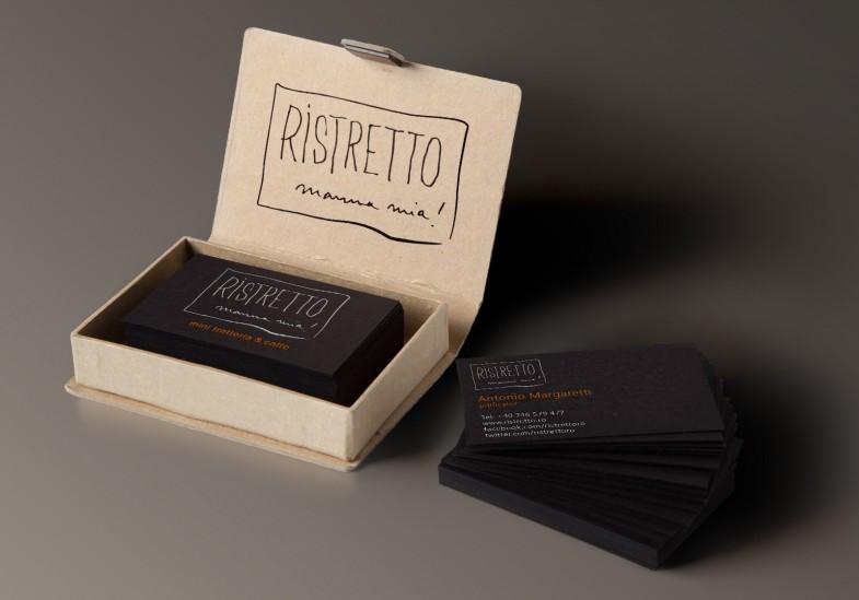 Concept cărți de vizită Ristretto